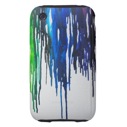 Rainbow Paint Drips Tough iPhone 3 Case
