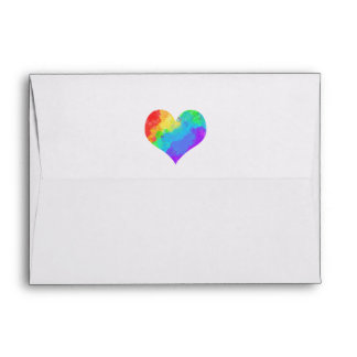 Rainbow Paint Heart Envelope