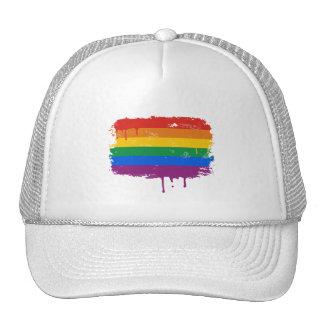 Rainbow Paint Mesh Hat