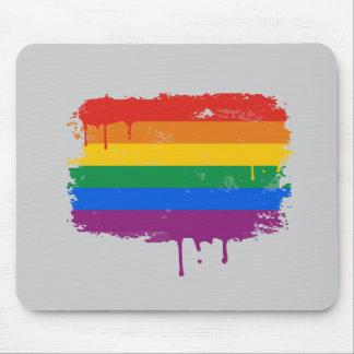 Rainbow Paint Mouse Pad