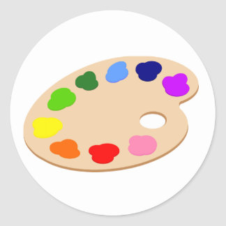 Rainbow Paint Palette Art Stickers