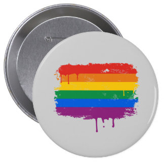 Rainbow Paint Pinback Buttons
