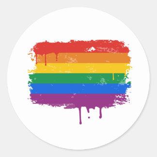 Rainbow Paint Round Stickers