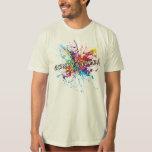 Rainbow Paint Splash Genderqueer T-Shirt