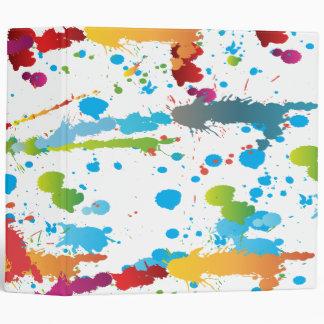 rainbow paint splatter-01 3 ring binders