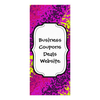 Rainbow Paint Splatter Abstract Purple Pink Green Custom Rack Cards