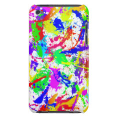 Rainbow Paint Splatter Barely There Ipod Cover at Zazzle