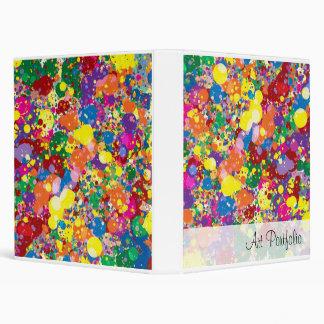 Rainbow Paint Splatter Binder