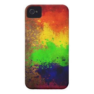 Rainbow Paint Splatter Case-Mate iPhone 4 Case