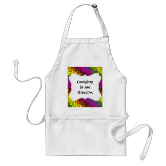 Rainbow Paint Splatter Hippie Earth Tones Abstract Aprons