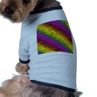 Rainbow Paint Splatter Hippie Earth Tones Abstract Dog Shirt