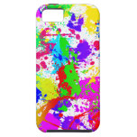 Rainbow Paint Splatter iPhone 5 Cases