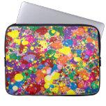 Rainbow Paint Splatter Laptop Computer Sleeve