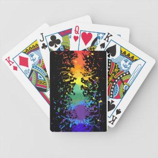Rainbow Paint Splatter Playing Cards