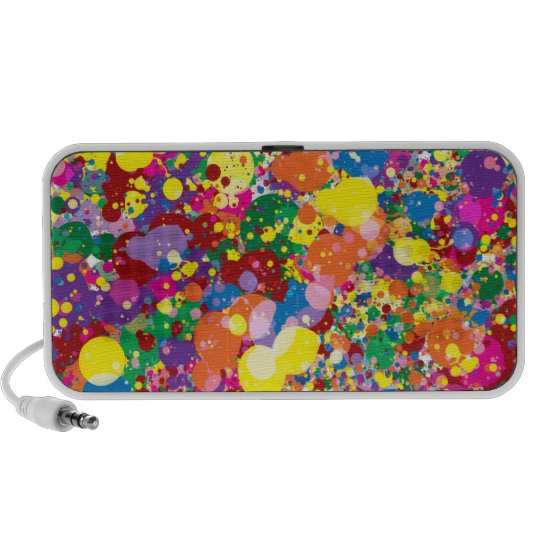 Rainbow Paint Splatter Speaker