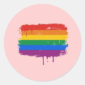 Rainbow Paint Stickers