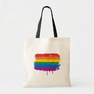 Rainbow Paint Tote Bag