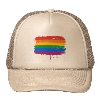 Rainbow Paint Trucker Hat