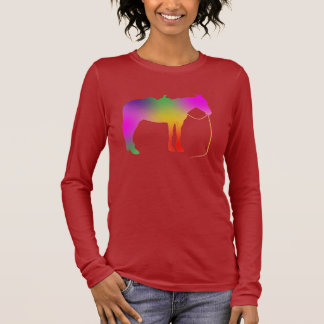 Rainbow painted horse long sleeve T-Shirt