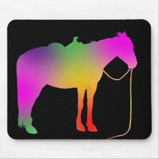 Rainbow painted horse mousepad
