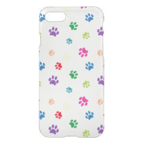 Rainbow Painted Paw Prints iPhone 8/7 Case