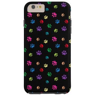 Rainbow Painted Paws (dark) Tough iPhone 6 Plus Case