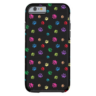 Rainbow Painted Paws (dark) Tough iPhone 6 Case