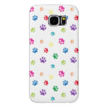 Rainbow Painted Paws Samsung Galaxy S6 Cases