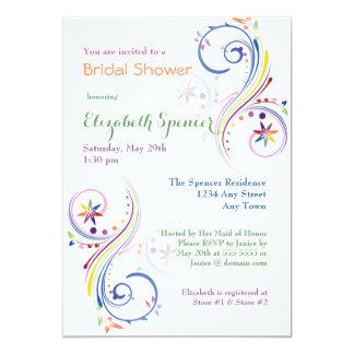 Rainbow Painted Swirls Bridal Shower Invitation