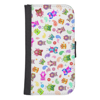 Rainbow paisley and Owls Phone Wallet