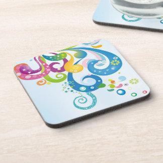 Rainbow Paisley Beverage Coaster