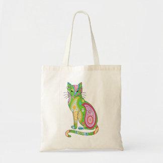Rainbow Paisley Cat Tote
