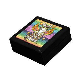Rainbow Paisley Fairy Cat Fantasy Art Gift Box
