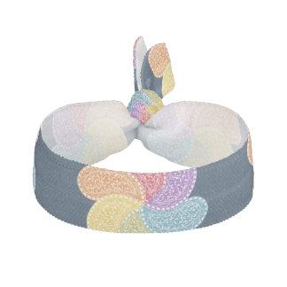Rainbow Paisley Flowers Hair Ties