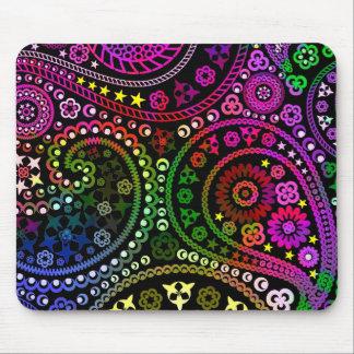 Rainbow Paisley Mouse Pad