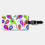 Rainbow Paisley Pattern Tag For Bags
