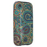 Rainbow Paisley Tough iPhone 3 Cases