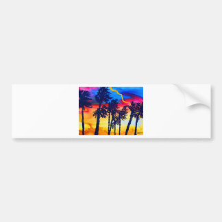 Rainbow Palms Bumper Sticker