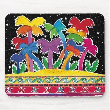 Beach Themed Rainbow-Palms Mousepad