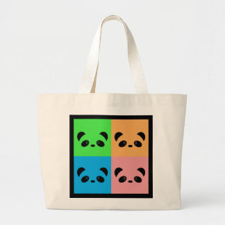 Rainbow Panda Large Tote Bag