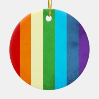 Rainbow Pants Unicorn Ceramic Ornament