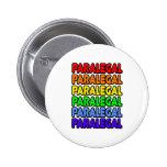 Rainbow Paralegal Pinback Button