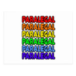 Rainbow Paralegal Postcard