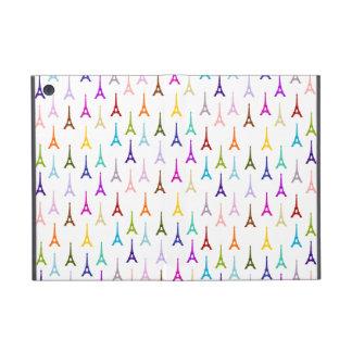 Rainbow Paris Eiffel Tower pattern iPad Mini Covers