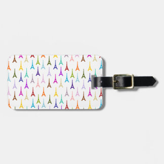 Rainbow Paris Eiffel Tower pattern Bag Tags