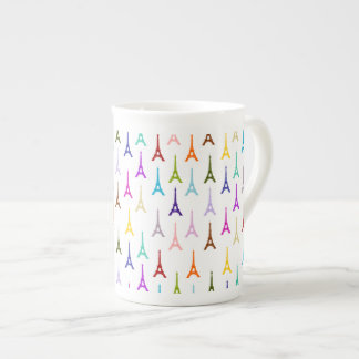 Rainbow Paris Eiffel Tower pattern Tea Cup