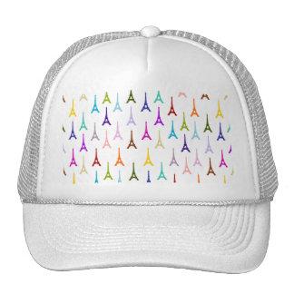 Rainbow Paris Eiffel Tower pattern Trucker Hat