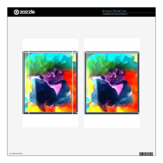 Rainbow Parrot Kindle Fire Decal