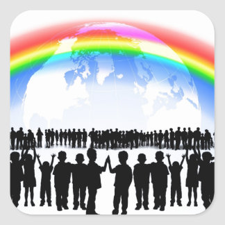 Rainbow Party Celebration Destiny Stickers