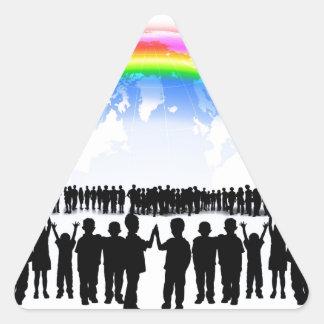 Rainbow Party Celebration Destiny Triangle Sticker